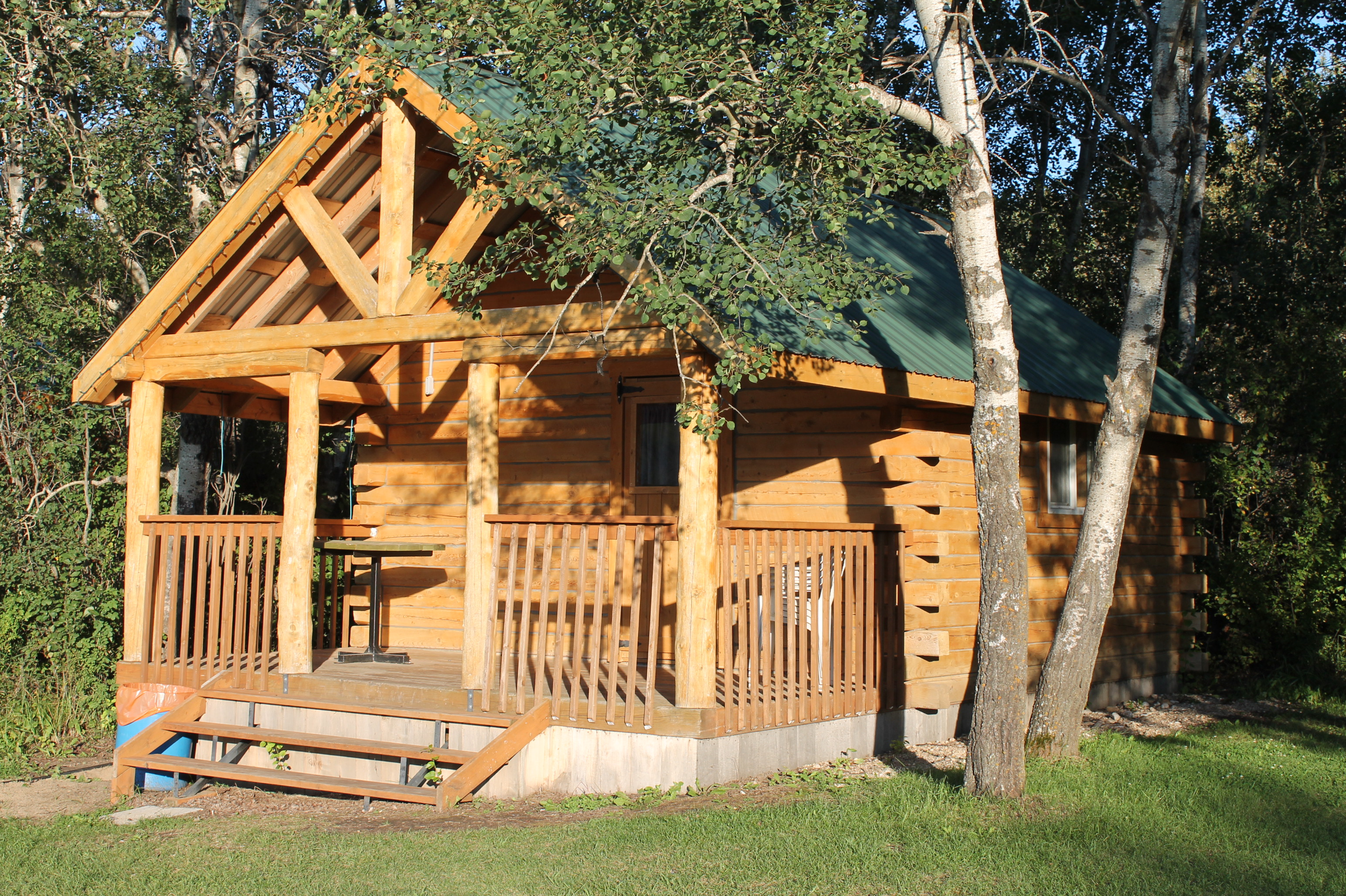 Large Log Cabin ~ Large cabin asessippi beach campground